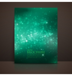 green sparkling background with glowing sparkles vector image
