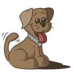 happy puppy vector image