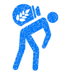 harvest porter icon grunge watermark vector image