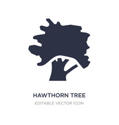 Hawthorn tree icon on white background simple vector