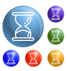 hourglass timer icons set vector image