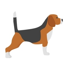 Hunter dog vector