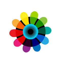 iris abstract color wheel vector image