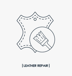 leather repair outline icon vector image