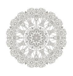Mandala oriental coloring pattern turkey egypt vector
