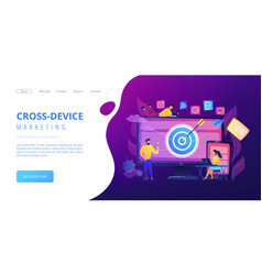 Multi device targeting concept landing page vector