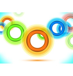 multicolor background - colorful rings vector image
