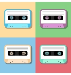 old vintage audio tapes icon vector image vector image