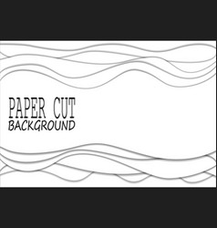 papercut many layers of white paper 3d background vector image