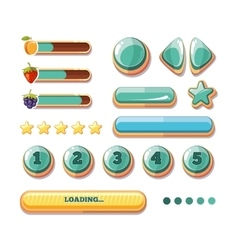 progress bars buttons boosters icons vector image