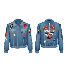Rock-n-roll forever jacket vector