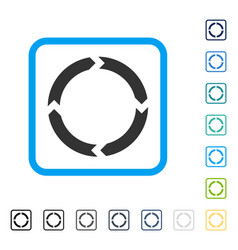 Rotation framed icon vector