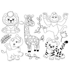 Safari Animals vector image