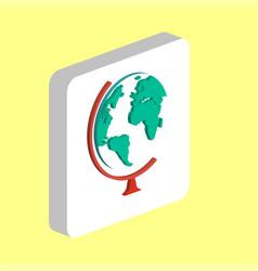 school globe computer symbol vector image
