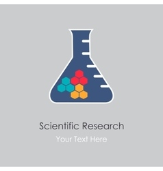 Scientific research vector image