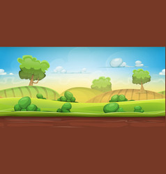 Seamless country landscape for ui game vector