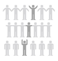 Set of people dotted design vector