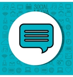 Speech bubble communication isolated icon vector
