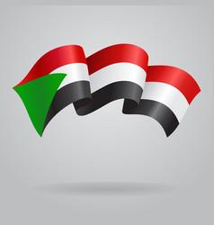 Sudanese waving Flag vector image