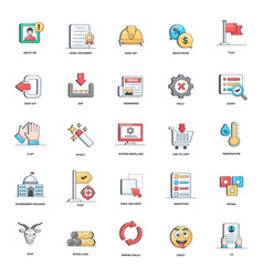 System configuration flat icons pack vector