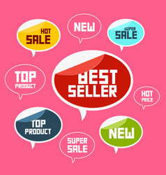 top product best seller new flat labels vector image