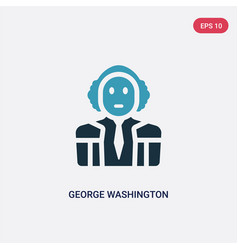 Two color george washington icon from united vector