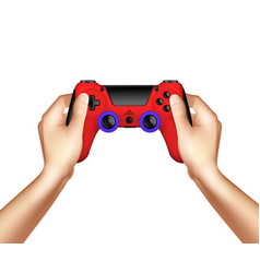 video game realistic design concept vector image