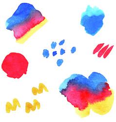 Watercolor splash elements vector