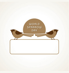 world sparrow day stock image vector image