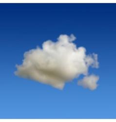Cloud in sky vector image