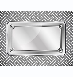 metal texture abstract background steel nameplate vector image