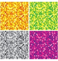 Set of Abstract Chaotic Pixel Backgrounds vector image