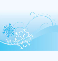 snowflakes abstract blue backdrop vector image vector image