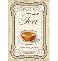 Vintage tea posters vector image vector image