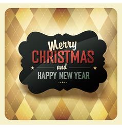 Christmas retro design card vector image vector image