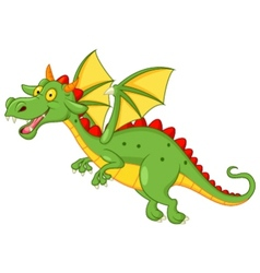 Cute dragon cartoon flying vector image