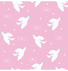 dove and letter pink vector image