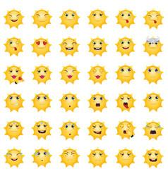emoticons sun vector image