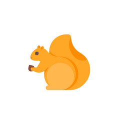 flat style of squirrel vector image