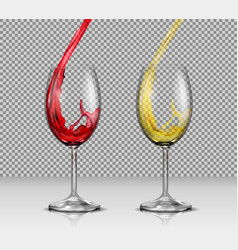 set of of transparent glass vector image vector image