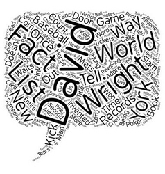 The David Wright Facts List text background vector image vector image