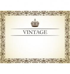 vintage frame decor vector image vector image