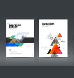 abstract business brochure vector image