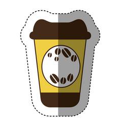 color coffee drink food icon vector image vector image