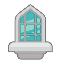 window for interior and exterior design use vector image