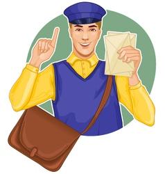 Young postman vector image