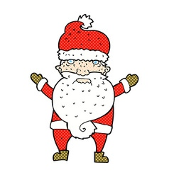 Comic cartoon grumpy santa vector