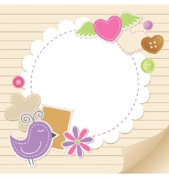 cute vintage greeting card vector image vector image