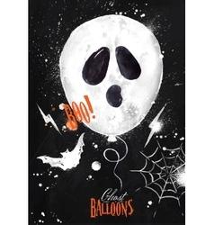 Halloween poster balloon vector image