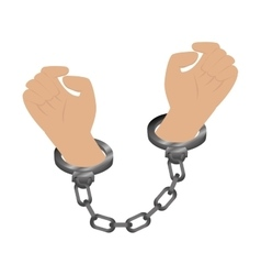 handcuffs police isolated icon vector image vector image